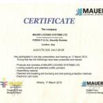 mauer locking certificate maximos